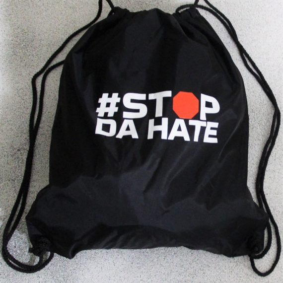 Drawstring Bags-black and white
