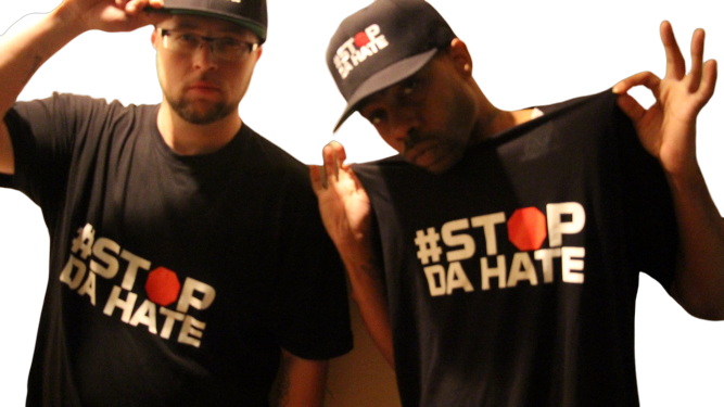 Young Bleed Supporting Stop da Hate Merch