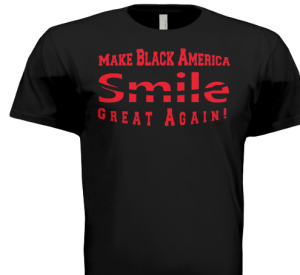 America merch with smile